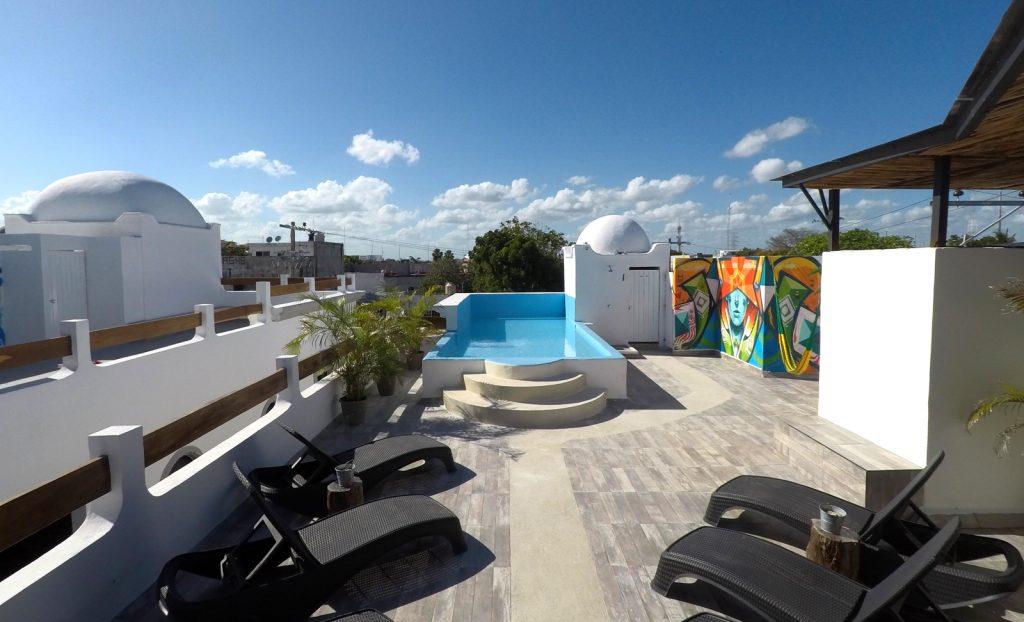 Blue Room Second Floor 2 Twin Beds Sofa Bed Las Flores Properties Playa Del Carmen Vacation Rentals